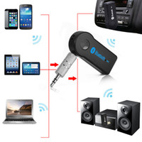 Wholesale A2DP Universal Bluetooth Aux Music Receiver mm Stereo Audio For Car Kit Handsfree With Mic For iphone Samsung HTC