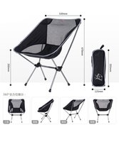 Wholesale new Outdoor Folding Chair Portable Chair Folding Seat Stool For Fishing Camping Hiking Gardening Beach Fishing Picnic BBQ with Bag free