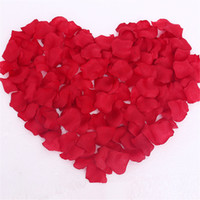 Wholesale 1000PCS SILK SIMULATION FAUX RED ROSE PETALS FLOWERS FOR VALENTINES WEDDING PARTY TABLE CONFETTI PHOTOGRAPHY DECORATION