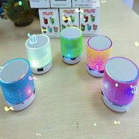 Cheap Mini Speaker Bluetooth Speakers LED Colored Flash A9 Handsfree Wireless Stereo Speaker FM Radio TF Card USB For iPhone Mobile Phone Computer