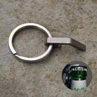 Wholesale Titanium Micro Bottle Opener Mini Multifunctional Camping Tool Key Ring