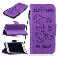 Wholesale iphone Case Beautiful Cartoon Style PU Leather Wallet Case Flip Stand Case for iphone