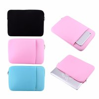 Wholesale New inch Soft Laptop Sleeve Case Bag With Side Pocket For Macbook Air Pro Retina Protector Case Cover