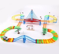 plastic electric race car sets selling large track car kids toys boy multi layer assembly