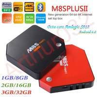 Wholesale 3G G M8S Plus II Amlogic S912 Android TV Box G G G G Octa Core G Wifi BT4 Kodi K H M Lan Smart Set Top Box
