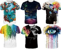 Wholesale 2017 NWT Men Fashion3D T shirt novelty casual streetwear men and women tops Short Sleeve Creative printed M XL