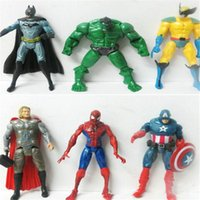 batman action - The Avengers Marvel Action Figures Captain Anime Toy America Spiderman Thor Batman Hulk Wolverine Action Figures Toy PVC Figure cm Doll