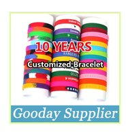 Wholesale Customized Silicone Bracelet Wristband Embossed Debossed Filling Color Print Quantity Over Pieces