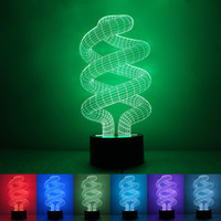 acrylic lamp shades - Tornado acrylic shade Night Light Bedroom Decorative D LED Color Changing Table Lamp Nighting Lights New Arrival rm