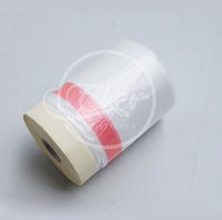 Wholesale cm m Per Roll Pre Taped Plastic Drop Cloth Masking Film Spray Paint Protection Film Plasti Dip Masking Film