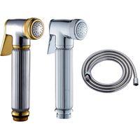 Chrome bidet sale - Hot Sale Chrome Plated Multifunction Handheld Toilet Bidet Sprayer Bathroom Spray Shower Head quot Shower Hose