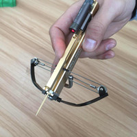 Wholesale 3 colors GEN Handheld Full CNC Machining IN1 Mini Crossbow With Hard Anodized Aluminum Slingshot Model Archery With Red Laser SIght
