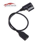 achat en gros de câble mmi audi-Câble de voiture Interface de musique AMI MMI vers USB Adaptateur de câble pour Audi A3 A4 A5 A6 A8 Q5 Q7 Q8 VW