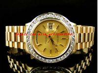 Montre-bracelet de luxe Hommes d'occasion Hommes 41MM Président Day-Date Montre de diamant en or jaune 18 carats Montre automatique pour hommes Montres pour hommes Qualité supérieure