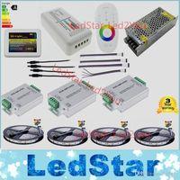amplifier wiring kits - Wifi m LED Strip Kit Mi light RGBW RGB tiras Waterproof RF Remote Controller Amplifier Power adapter Free ship