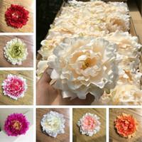 venda por atacado artificial flowers wholesale-Cabeças de flores decorativas artificiais flores de peônia falsas para decoração de banquete de casamento decorações de fotografia Frete grátis por atacado