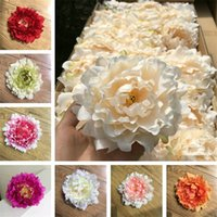 al por mayor fotografía por mayor-Las flores decorativas artificiales del Peony de las cabezas de flor falsas para las decoraciones de la fotografía de la decoración del banquete de boda venden al por mayor el envío libre
