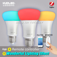 Wholesale ZigBee Light Link E26 E27 RGBw Intelligent Bulbs LED Colorful Light Smart Bulb w Wireless Compatible Hue APP Remote Control