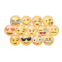 Wholesale 400Pcs QQ Expression Emoji Fridge Magnet Cute Cartoon Fashion Crystal Glass Fridge Magnets Funny Refrigerator Toy