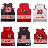 baby michael - 23 Youth Jersey Michael Kids Basketball Jersey Best quality Baby Jersey Embroidery Logos Size S M L XL Accept Mix order