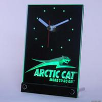 arctic cat - tnc0168 Arctic Cat Snowmobiles Table Desk D LED Clock