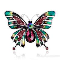 Joyería de época Esmalte grande Esmaltes Broches de mariposa Broche de ramillete Lote Broche de boda Violetta Insecto Hijab Pin Up Broches