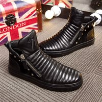 Wholesale 2017 spring and autumn fashion big men s boots the first layer of high quality shoes men s luxury leather casual shoes