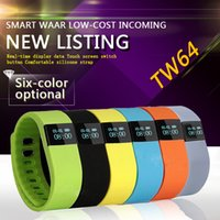Wholesale FITBIT TW64 New colors wristband Smart Band Fitness Activity Tracker Bluetooth Smartband Sport Bracelet for IOS Android Cellphone
