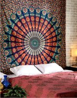 bedspread cotton thread - Indian Bohemian Hippie Bedspreads Queen Size Blanket Bedding Mandala Tapestry Bed Sheet Throw
