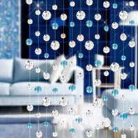 Wholesale m Hanging String Crystal Beads Curtain Wedding Backdrop DIY Decor Window Door Passage Decoration