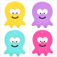 Wholesale 10PCS Octopus Silicon teether funny teether for baby BPA Free