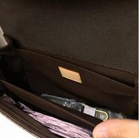 Wholesale 2017 new HOT fashion women Genuine leather Pochette Metis bag messenger bags women print leisure joker shoulder handbag bag