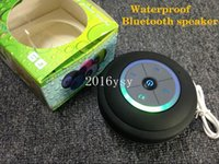 Wholesale 10pcs NEW Portable Mini Subwoofer Shower Waterproof Wireless Bluetooth FM TF card LED Speaker Receive Call Music Suction