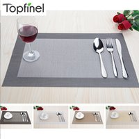 bamboo dining sets - Top Finel Set of PVC Decorative Vinyl Placemats for Dining Table Runner Linen Place Mat in Kitchen Accessories Cup Coaster Pad
