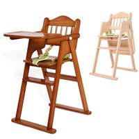 baby high chairs wood - Good Quality Baby Feeding Seat Solid Wood Foldable Infant Highchair Safety Belt Multifunctional Toddler Dining Chair VT0441