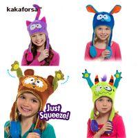 american girl fun - Fashion Winter Children Woolen Yarn Dancing Hats American Cartoon Christmas Party Girls Cap Cute Fun Kids Hat for Xmas