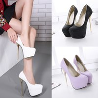 Wholesale Super High Heels 16 Cm - 2017 New super high heel 16 cm Joker model element face Only super finely with female shoes