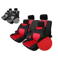 Gray auto interior fabric - Auto Seat Cover Universal Sandwich Fabrics Car Seat Cover Set Four Seasons Auto Car Cushions Interior Accessories