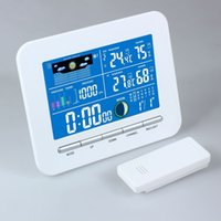 Wholesale AC100 V Led Display Wireless Weather Station Indoor Outdoor Thermometer Humidity
