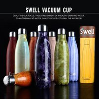 Wholesale S well Bottle Stainless Steel Vacuum Flask Cup Swell Sports Mug oz ml Hot Cool Drinking Bottle