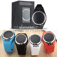 Korean age sound - 2017 New Bluetooth Sound Speaker Sport Wristband Pedometer support TF Card Smart watch For IOS Android Smartphone