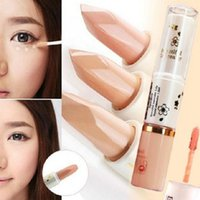 Wholesale blemish dark eye circle cover liquid concealer Two end face Care long lasting