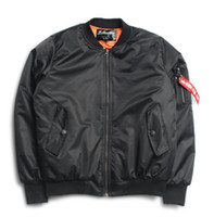 air force couples - Anarchy Big sam KANYE WEST tour MA1 pilot jackets Bomber Jackets couples thick Air Force Embroidery Baseball Military Coat