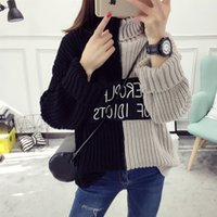 Women Pullover Regular 2017 spring new women turtlenck sweater womens letter love beaded sweaters pullovers female tricot pull jumper pullover