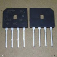Wholesale GBU808 A V Bridge rectifier bridge rectifier fangqiao flat charger line bridge rectifier bridgeInto four feet