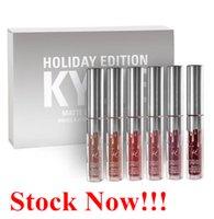 angels colors - DHL Kylie Holiday Edition Matte Liquid Lipstick Lip Gloss Mini Kit Cosmetic Makeup Sets Colors Moon Ginger Kristen Angel Love Bite Vixen