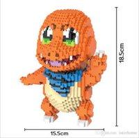 Wholesale Cartoon Blocks Diamond Blocks Mary Yoshi Egg Yolk Mario Model Action Figure Poke Charmander Mini Building Blocks Figure Toys Designs G122