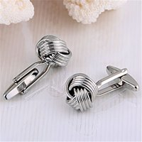 Wholesale Ray Jewelry New Style Women Jewelry Accessories pc mm Twist Metal Cufflink for Cloth