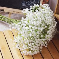 Wholesale White Baby Breath Artificial Flowers for Wedding Decoration Event Party Supplies High Quality Decorative Flowers Wreaths