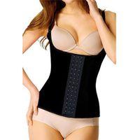 Wholesale Sport Fashion New Latex Black Rubber Waist Training Steel Boned Underbust Waist XS XL Cincher corset W580886A